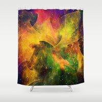 blanket Shower Curtains featuring Blanket of Stars by Klara Acel