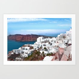 Santorini island, Greece Art Print