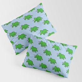 Cute Triceratops pattern Pillow Sham