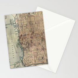 Vintage Map of Toronto (1894) Stationery Cards