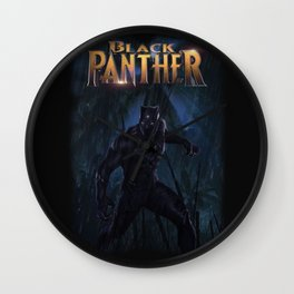 T'Challa , The Black Panther Wall Clock