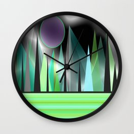 Northern Lights - Landscape Wall Clock