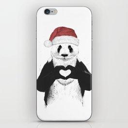 Santa panda iPhone Skin