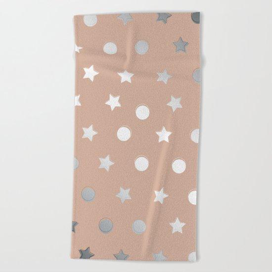 Silver Confetti Beach Towel
