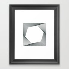 #294 Travelling without moving – Geometry Daily Framed Art Print