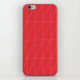 Red Triangles by Friztin iPhone Skin