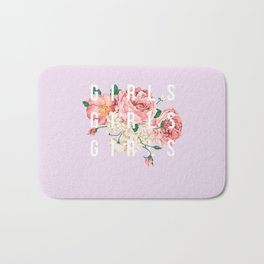 girls flowers Bath Mat