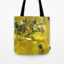 Waiter Yellow Abstract Modern Art Painting Tote Bag