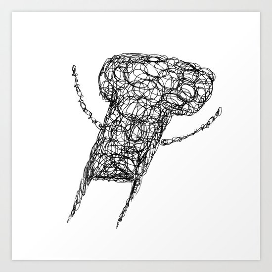 Wire Child Art Print