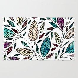 Leaf Illustration Pattern Rug