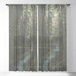 Oregon Forest V Sheer Curtain