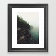 Pictured Rocks Falls Framed Art Print