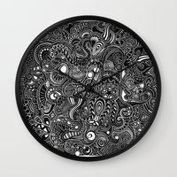 trip Wall Clocks featuring Trip by Hugo F G