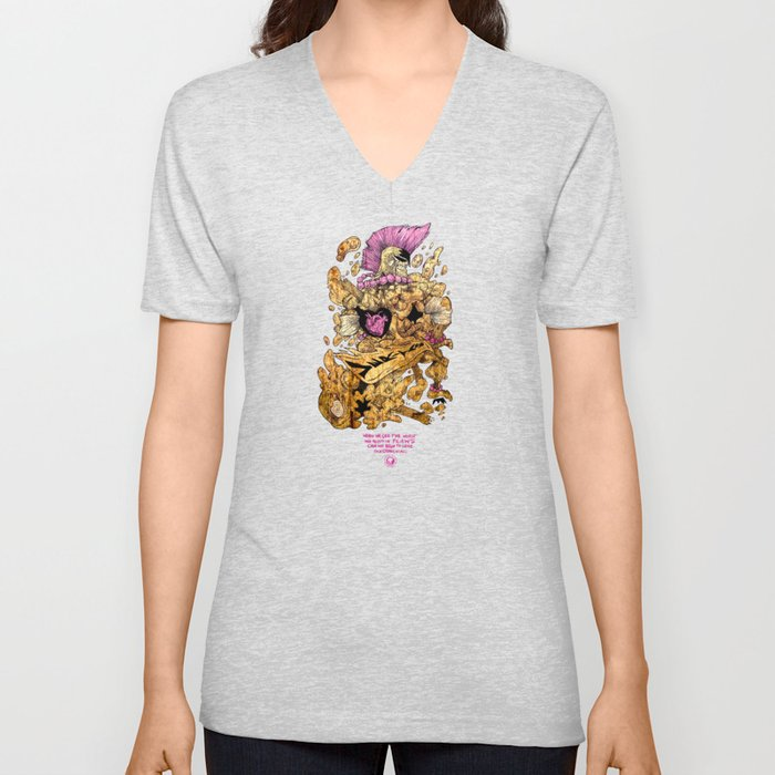 Flaws and All  Unisex V-Neck