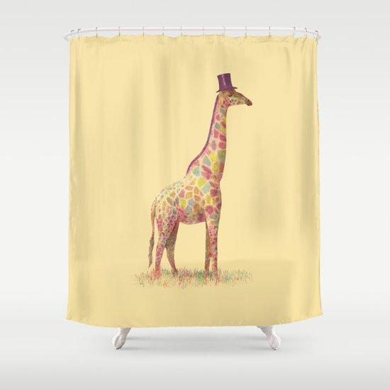Fashionable Giraffe Shower Curtain