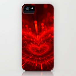 Cupid's Arrows | Valentines Day | Love Red Black Heart Texture Pattern iPhone Case