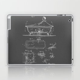 Rocking Oscillating Bathtub Patent Engineering Drawing Laptop & iPad Skin