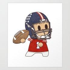 American Football Art Print