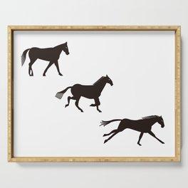 a horse runs Serving Tray
