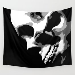 Skull Over Darkness Wall Tapestry