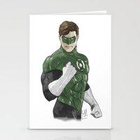 green lantern Stationery Cards featuring Green Lantern by Alex Heuchert