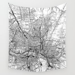 Vintage Map of Richmond Virginia (1934) BW Wall Tapestry