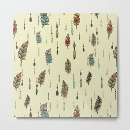 V36 BOHO ANTHROPOLOGIE STYLE PATTERN Metal Print