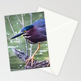 Green Heron Hunting Stationery Cards