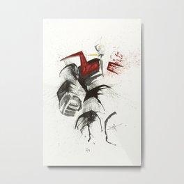 Mazinger Z - Splatter Artwork Metal Print