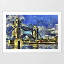 Tower Bridge and the Waverley Art Art Print