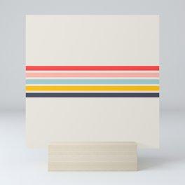 Naomori - Classic Minimal Retro Stripes Mini Art Print