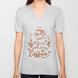 Coffee loved by caffeine lovers Unisex V-Neck