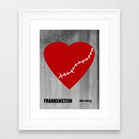 frankenstein Framed Art Prints featuring Frankenstein by PA Melvin