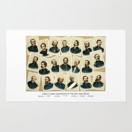 Union Commanders of The Civil War Rug