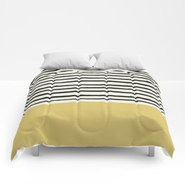 Daffodil Yellow x Stripes Comforters