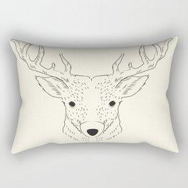 Hand-painted deer Rectangular Pillow