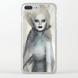 Alabaster Ghost Bride Clear iPhone Case