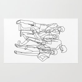 Davie Bowie Line Print Rug