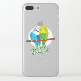 Funny Budgerigar Budgie Pet Bird Lover Nerdy Gift Clear iPhone Case