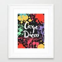 carpe diem Framed Art Prints featuring Carpe diem by Julia Badeeva
