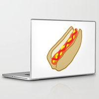 hot dog Laptop & iPad Skins featuring Hot Dog by Andrew Lynne