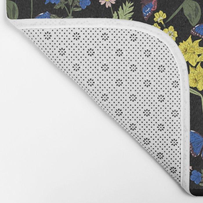 Botanical floral print Bath Mat