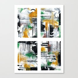 Olive With Ochre Times Four Canvas Print