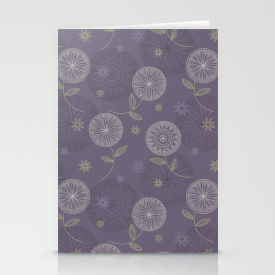 Folky Lace Flowers Stationery Cards