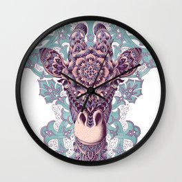 Giraffe (Color Version) Wall Clock