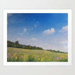 Summer fields2 Art Print