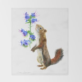 Take Time To Smell The Flowers by Teresa Thompson Throw Blanket
