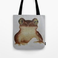 frog Tote Bags featuring frog by Diane Nicholson