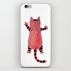 Red cat iPhone & iPod Skin