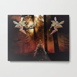 Christmas Faerie Dust Metal Print